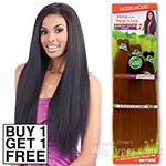 Model Model Dream Weaver Human Hair Blend Weaving - Pose Peruvian Blow Out Texture Straight 7pcs 18,20,22 (Buy 1 Get 1 FREE)
