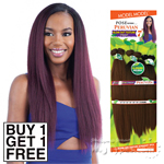 Model Model Dream Weaver Human Hair Blend Weaving - Pose Peruvian Blow Out Texture Straight 7pcs 14,16,18 (Buy 1 Get 1 Free)