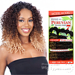Model Model Dream Weaver Human Hair Blend Weaving - Pose Peruvian Jerry Bundle Wave (12/12/13/13/14/14 + closure)
