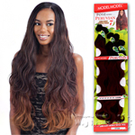 Model Model Dream Weaver Human Hair Blend Weaving - Pose Peruvian Long Body Bundle Wave (22/22/24/24/26/26 + closure)