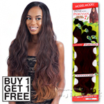 Model Model Dream Weaver Human Hair Blend Weaving - Pose Peruvian Long Body Bundle Wave (Buy 1 Get 1 FREE)