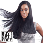 Model Model 100% Human Hair Weaving - YAKY AND YAKY 12,12,14,14 (Buy 1 Get 1 FREE)