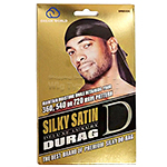 Dream World Deluxe Luxury Silky Satin Durag #DRE006 Black