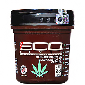Eco Style Cannabis Sativa Oil Black Castor & Olive Oil Styling Gel 8oz