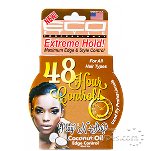 Eco Style Play'n Stay 48 Hour Control Coconut Oil Edge Control Gel 3oz