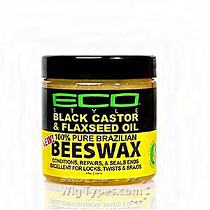 Eco Style Black Castor & Flaxseed Oil 100% Pure Brazilian Beeswax 4oz