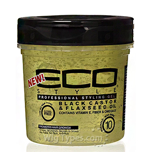 Eco Style Black Castor & Flaxseed Oil Styling Gel 8oz