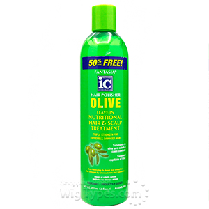 Fantasia IC Hair Polisher Olive Leave-in Hair & Scalp Treatment 12oz