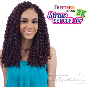 Freetress Synthetic Braid - 3X STRAW SET CURL 14