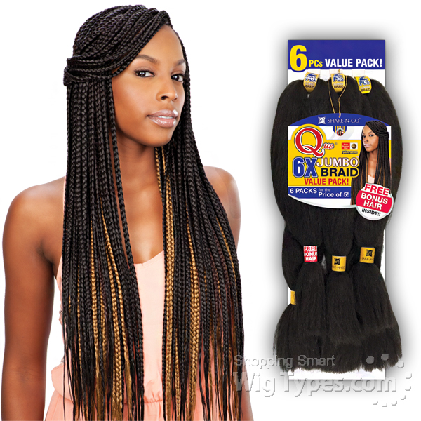 Freetress Synthetic Braid Que 6x King Jumbo 6 Pack For The Price Of