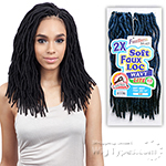 Freetress Synthetic Braid - 2X SOFT WAVY FAUX LOC 12 (24PCS)