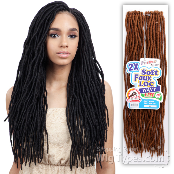 Freetress Synthetic Braid - 2X SOFT WAVY FAUX LOC 20 ...
