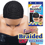 Freetress Braided Cap - FULL BANG PATTERN (Finished Full Bang Braided Pattern on a Cap)