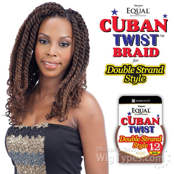 Freetress Equal Synthetic Braid Cuban Twist Braid 12 Wigtypes