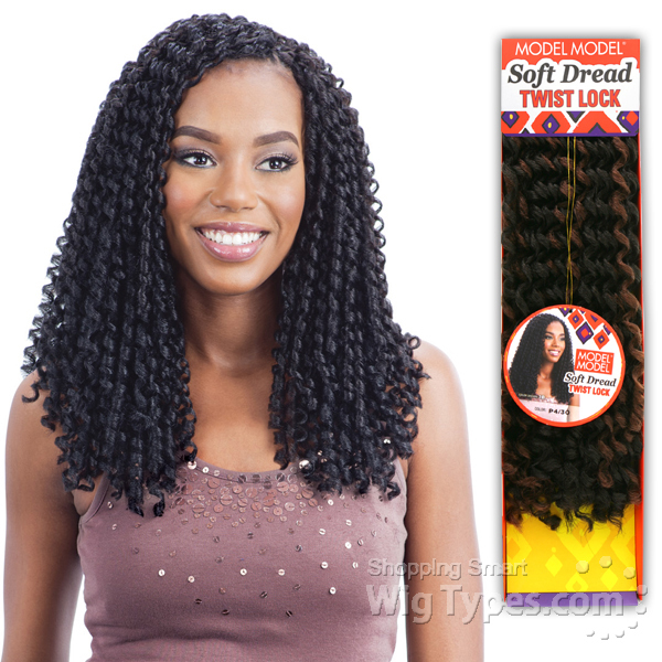 Model Glance Synthetic Braid Soft Dread Twist Lock