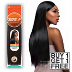 Sensationnel 100% Human Hair Weaving - GLOWUP YAKI WVG (Buy 1 Get 1 FREE)
