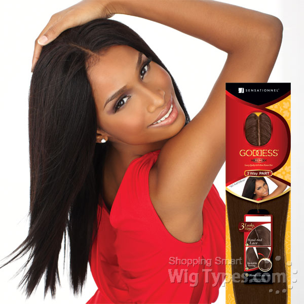 Sensationnel 100 Remi Human Hair Goddess Remi 3 Way Part