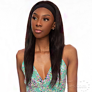 Awesome 100% Brazilian Human Hair Wet & Wavy Headband Wig - HH BAND 08