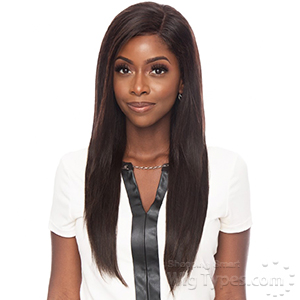 Awesome Ebony Virgin Human Hair 13x4 Lace Frontal Wig - STRAIGHT 20