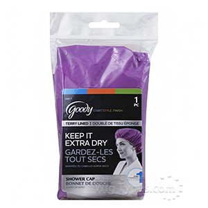 Goody #00817 1 Terry Lined Shower Cap