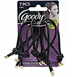 Goody #07541 Finishing Touch Elastics Black/Gold 7pcs