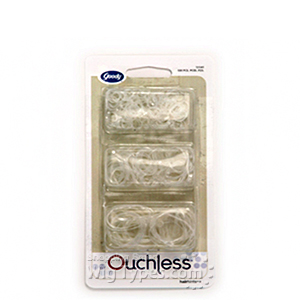 Goody #01046 Latex Elastics Multi on Clear 250pcs