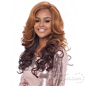 Harlem 125 Synthetic Hair Swiss Lace Reverse Deep Part Wig - LSD07