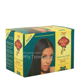 Hawaiian Silky Moroccan Argan Oil Hydrating Sleek No Lye Conditioning Relaxer - Regular