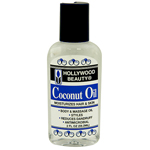Hollywood Beauty Coconut Oil Moisturizes Hair and Skin 2oz