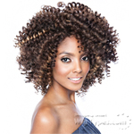 Isis Black Ivy Synthetic Hair Crochet Lace Wig - 3A TWIRLY (weft less design)