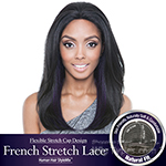 Isis Brown Sugar Human Hair Blend French Stretch Lace Wig - BS702 TWINKLE (Flexible Stretch Cap Design with Natural Texture)