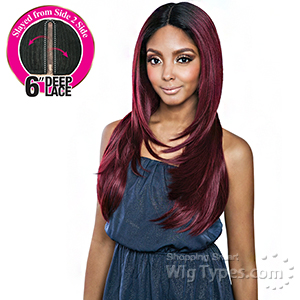 Isis Brown Sugar Human Hair Blend Side 2 Side Lace Front Wig - BSD2609 CLEVELAND ARI (6 inch deep lace)