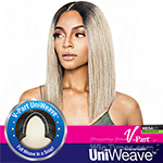 Isis Brown Sugar Human Hair Blend Uniweave V Part Wig - BSUW04 STRAIGHT BLUNT 14