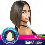 Isis Brown Sugar Human Hair Blend Uniweave V Part Wig - BSUW05 STRAIGHT BLUNT 10