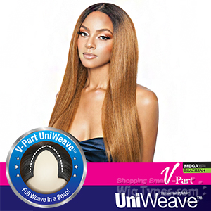 Isis Brown Sugar Human Hair Blend Uniweave V Part Wig - BSUW07 NATURAL STRAIGHT 28