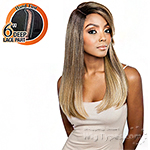 Isis Brown Sugar Human Hair Blend Full Wig - BS1601 (6 inch Deep Part)