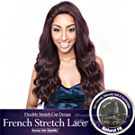 Isis Brown Sugar Human Hair Blend French Stretch Lace Wig - BS704 STELLA (Flexible Stretch Cap Design with Natural Texture)