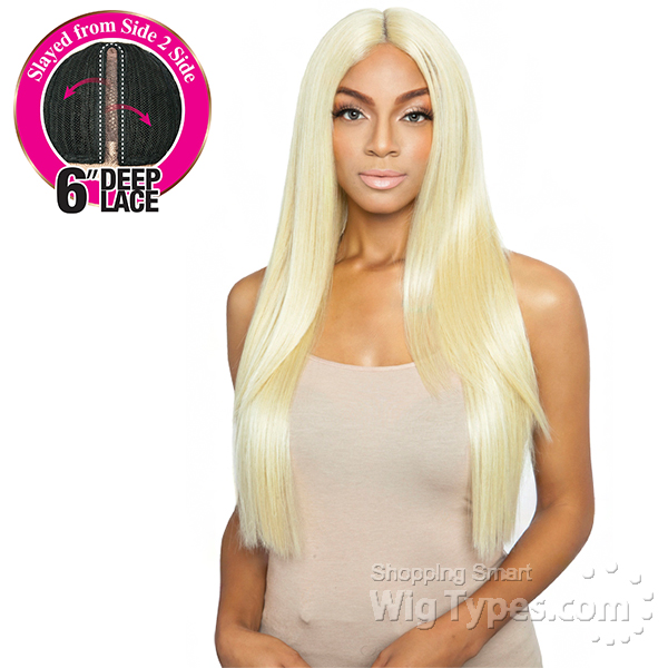 Isis Brown Sugar Human Hair Blend Side 2 Side Lace Front Wig