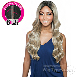 Isis Brown Sugar Human Hair Blend Side 2 Side Lace Front Wig - BSD2608 PHILLY ARI (6 inch deep lace)