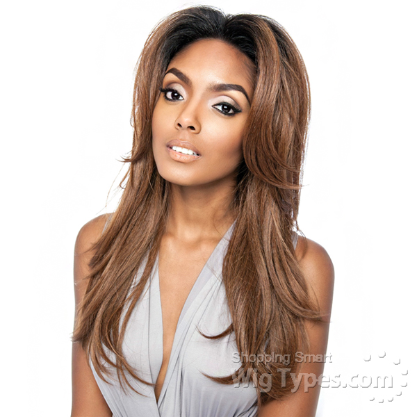 175e2278e2cf Isis Brown Sugar Human Hair Blend Frontal Lace Front Wig - BSF01 (13x4 Lace  Closure
