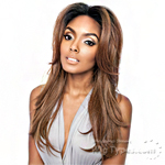 Isis Brown Sugar Human Hair Blend Frontal Lace Front Wig - BSF01 (13x4 Lace Closure Wig)
