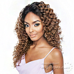 Isis Brown Sugar Human Hair Blend Frontal Lace Front Wig - BSF02 (13x4 Lace Closure Wig)
