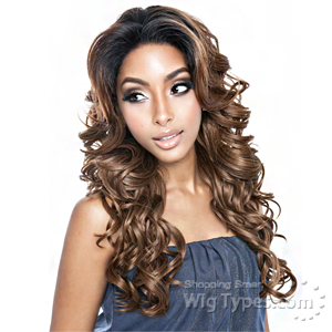 Isis Brown Sugar Human Hair Blend Frontal Lace Front Wig - BSF04 (13x4 Lace Closure Wig)