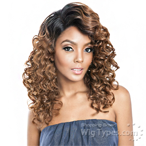 Isis Brown Sugar Human Hair Blend Frontal Lace Front Wig - BSF06 (13x4 Lace Closure Wig)