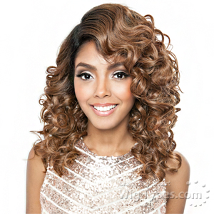 Isis Brown Sugar Human Hair Blend Frontal Lace Front Wig - BSF07 (13x4 Lace Closure Wig)