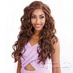 Isis Brown Sugar Human Hair Blend Frontal Lace Front Wig - BSF12 (13x4 Lace Closure Wig)