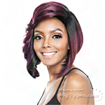 Isis Brown Sugar Human Hair Blend Signature Part Wig - BSS106 MASERATI