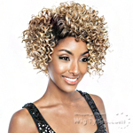 Isis Brown Sugar Human Hair Blend Signature Part Lace Front Wig - BSS204 EBONY