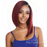 Isis Brown Sugar Human Hair Blend Uniweave V Part Wig - BSUW03 STRAIGHT BOB 14