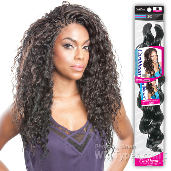 Crochet Hair Deep Wave : Isis Red Carpet Synthetic Caribbean Bundle Braid - DOMINICAN DEEP WAVE